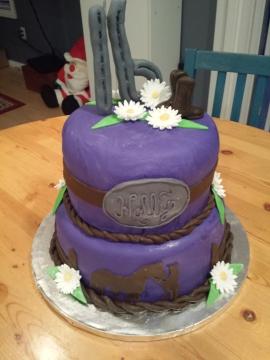 16th Horse cake
