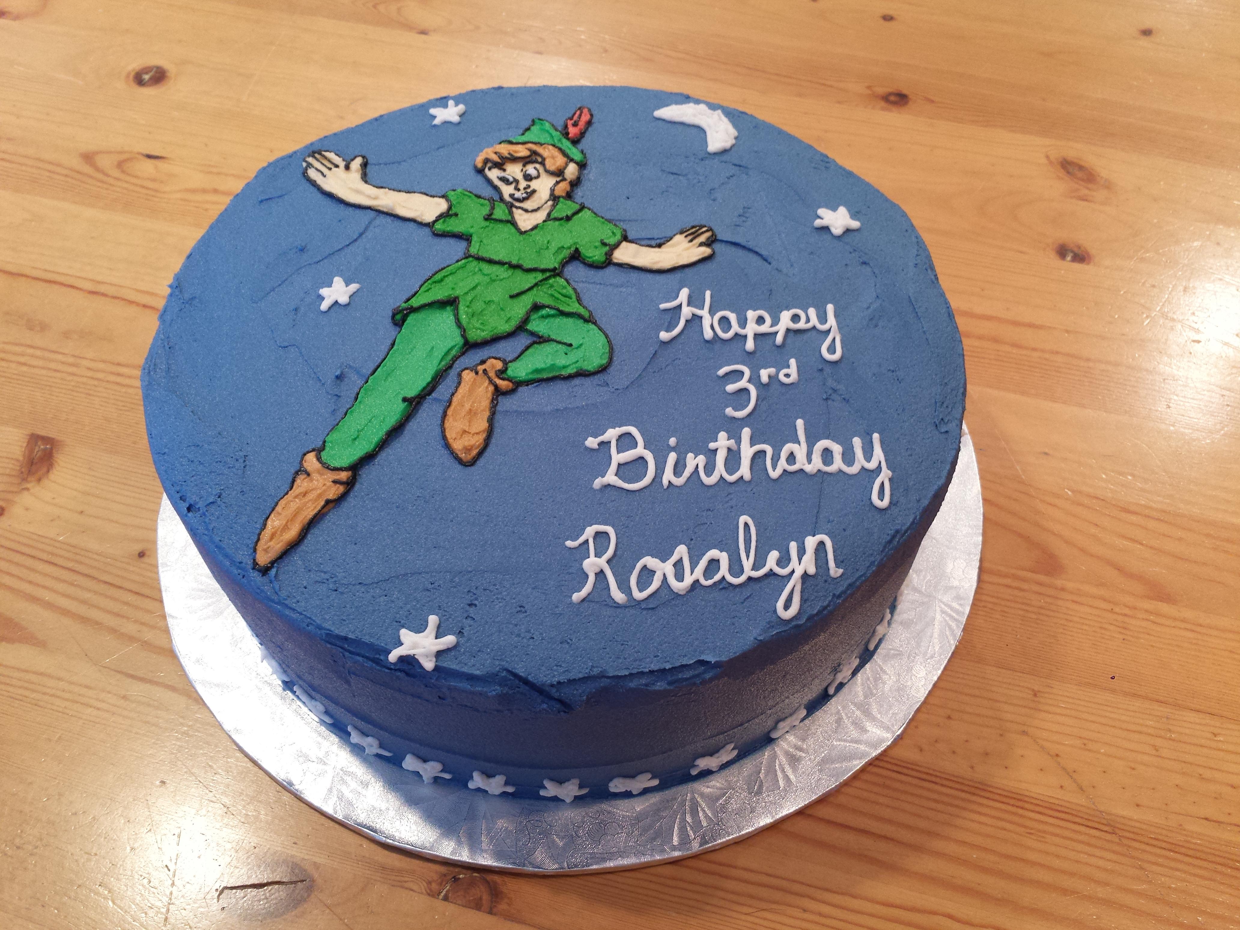 Amazing Peter Pan Cake Ericas Edibles Personalised Birthday Cards Paralily Jamesorg