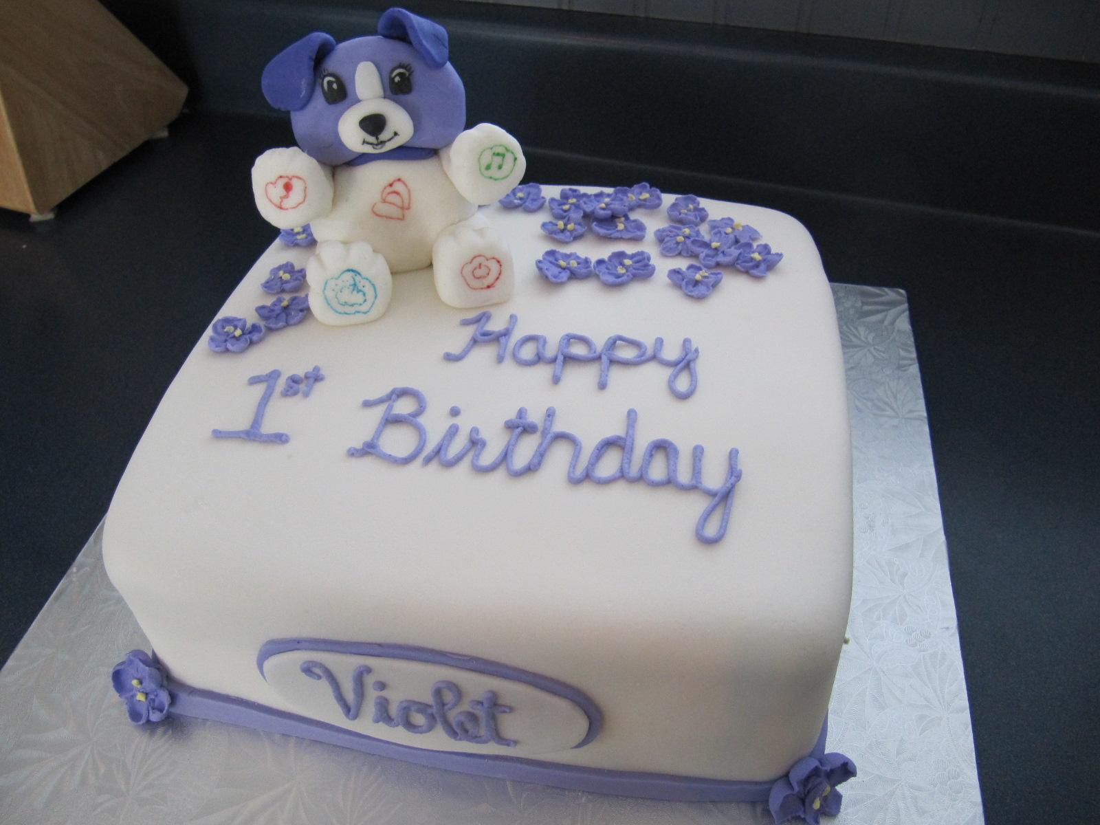 Violet Bear Cake Ericas Edibles