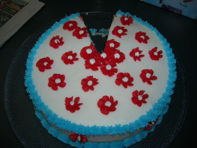 Cake2 decorated