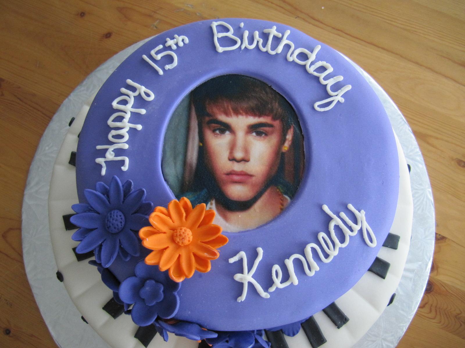 Remarkable Justin Bieber Birthday Cake Ericas Edibles Funny Birthday Cards Online Elaedamsfinfo