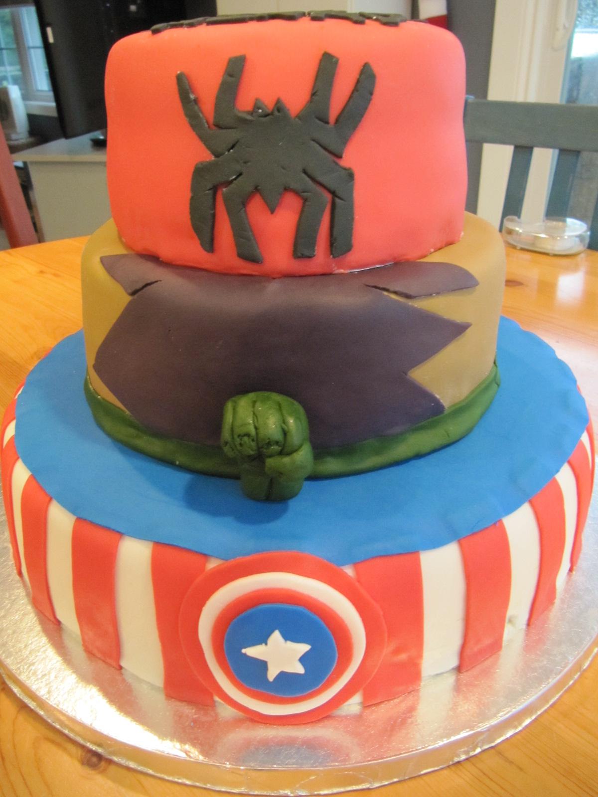 captain america cake Ericas Edibles