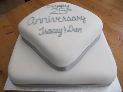 25th Anniv Cake
