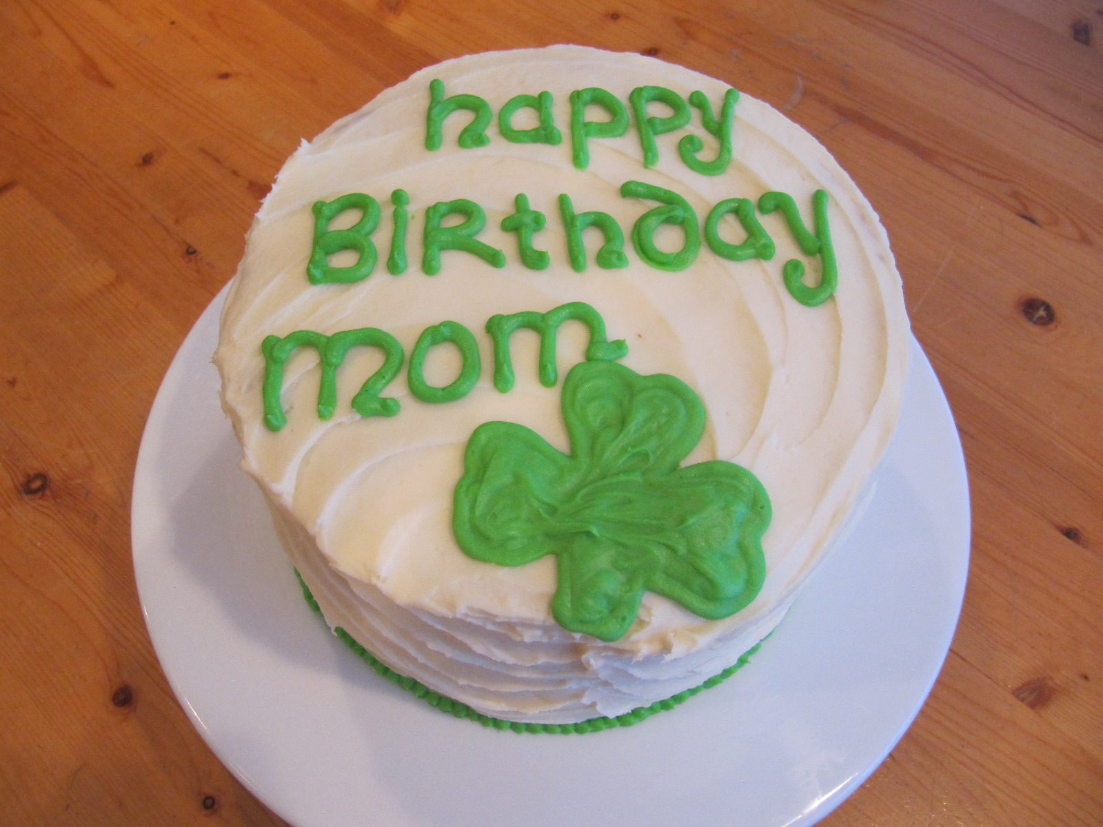 Pleasant Moms Irish Birthday Cake Ericas Edibles Personalised Birthday Cards Veneteletsinfo