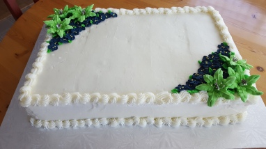 Slab wedding cake