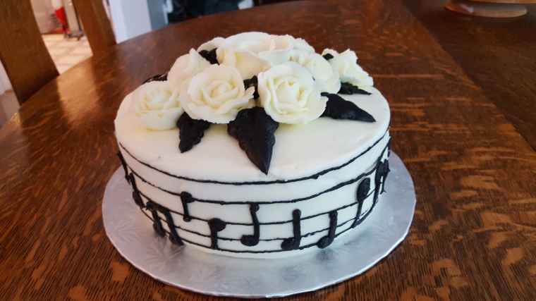Pleasing Music Cake Ericas Edibles Funny Birthday Cards Online Inifofree Goldxyz