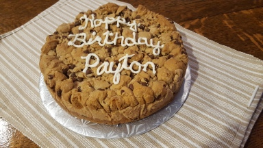 Chocolate Peanut butter sqare cake
