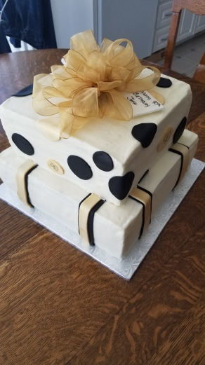 90th Presents Cake