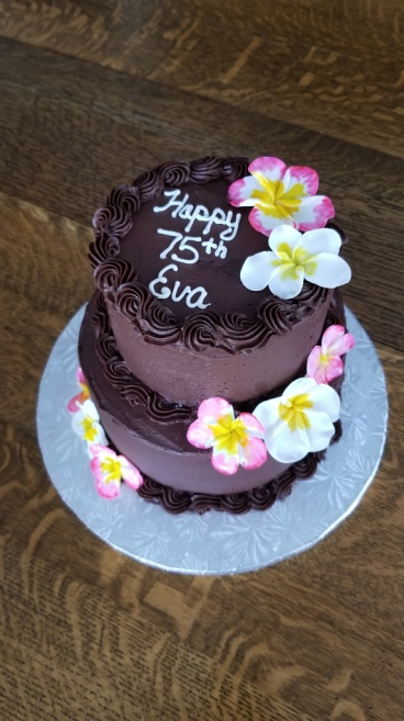 75th flowers cake