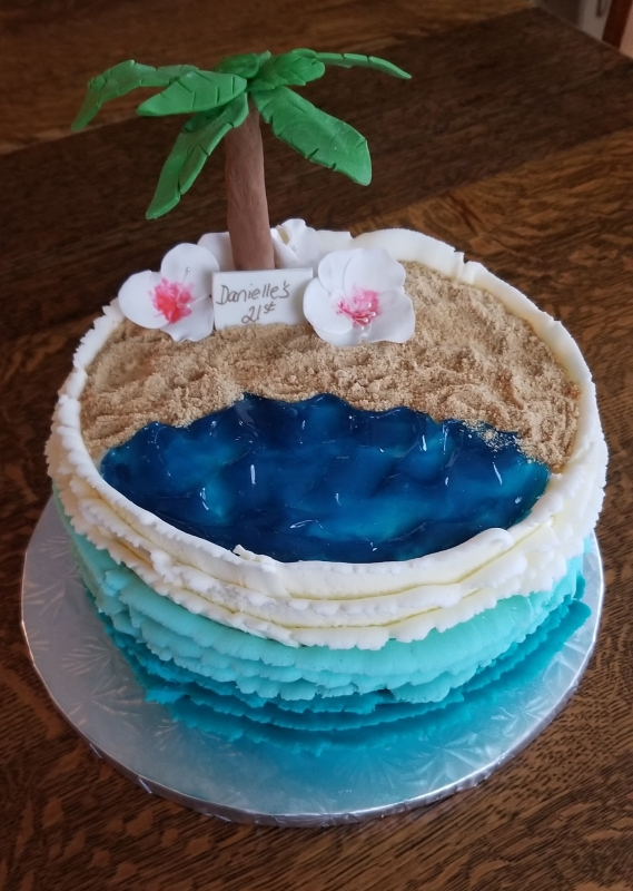 Stupendous Palm Tree Cake Ericas Edibles Birthday Cards Printable Trancafe Filternl